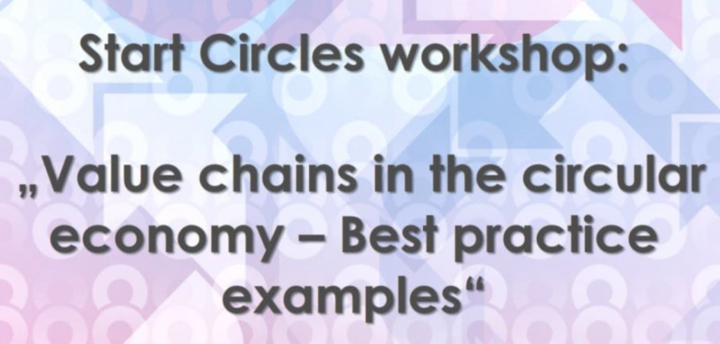 Start Circles Workshop – Value chains in circular economy – Best practice examples, 20.10.2021